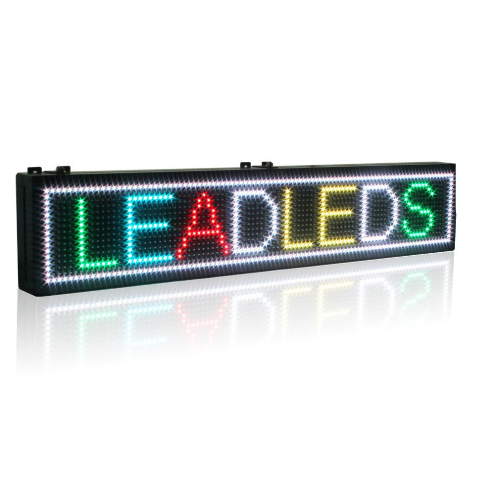 P10 Indoor RGB Programmable LED Sign Rainbow Scrolling Message Display Increasing Your Business