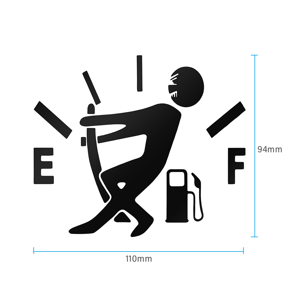1 Pcs Funny Car Sticker Pull Fuel Tank Pointer To Full Hellaflush Reflective Vinyl Car Sticker Decal Wholesale 6
