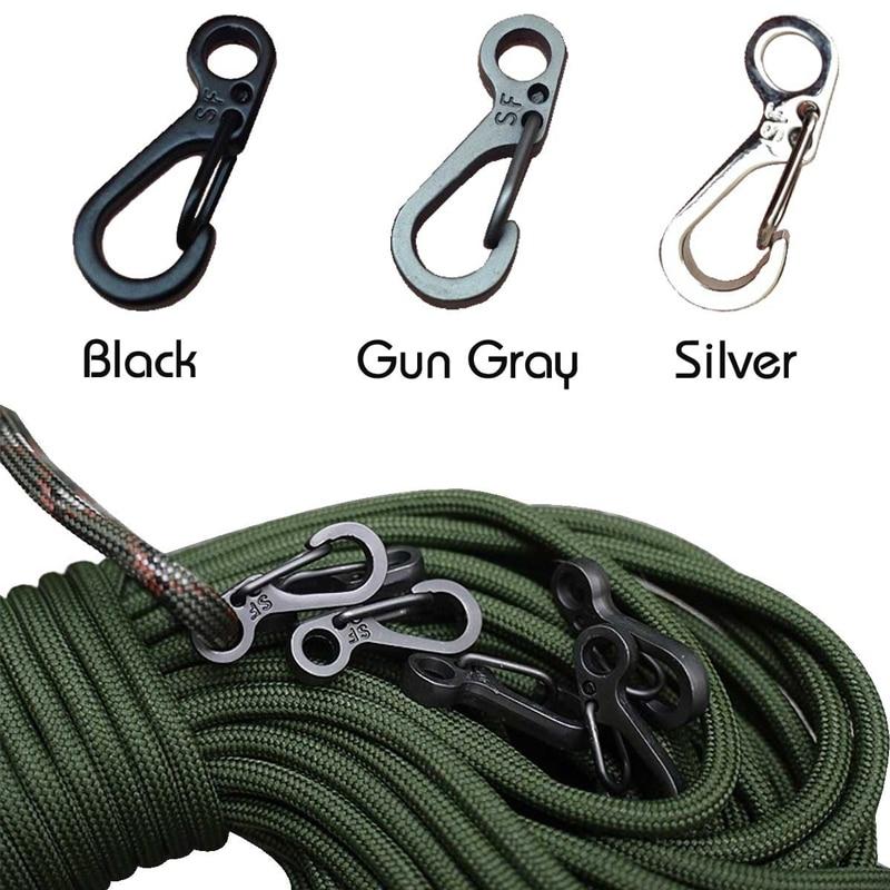 Mini mousquetons parfaits pour le camping ou l'escalade, 10 pièces par lot,porte-clés, fermoirs, crochets, survie, équipement tactique, EDC, 1