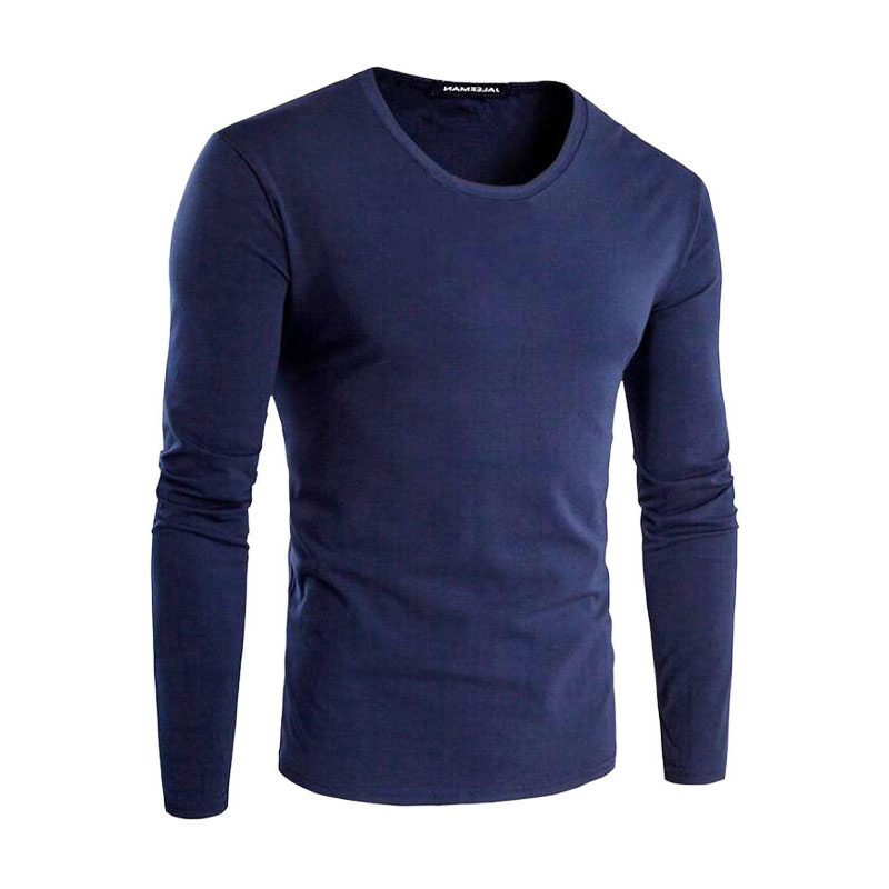 Men's T-Shirts Cotton Elements 5XL O-Neck Vegan Casual Tops Solid Tshirt Male Long Sleeve Men T shirt Mens Clothing 2018