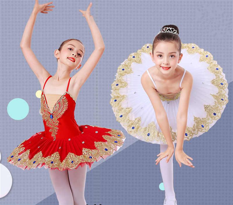 09de96d01 Detail Feedback Questions about Professional Ballet Tutu The little girl  Swan Lake Costume White Red Blue Ballet Dress for Children Pancake Tutu  Girls ...