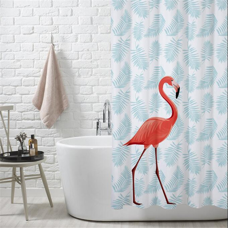PEVA Eco Friendly Colorful Flamingos Shower Curtain Waterproof Bathroom Thicken Mildew Proof Partition In Curtains From Home