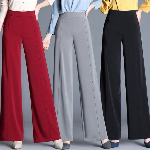 Ladies Work Pants For Office Plus Size Wide Leg Trousers Women ...