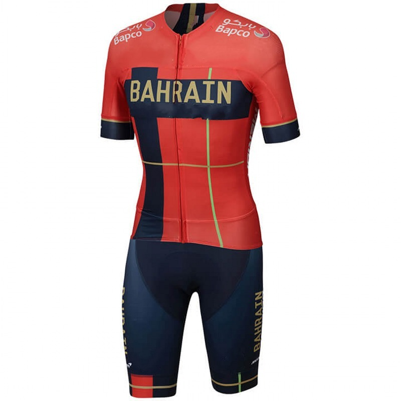 2019 pro team bahrain one piece cycling jersey skinsuits bike bodysuits MTB Ropa Ciclismo Bicycle speedsuit