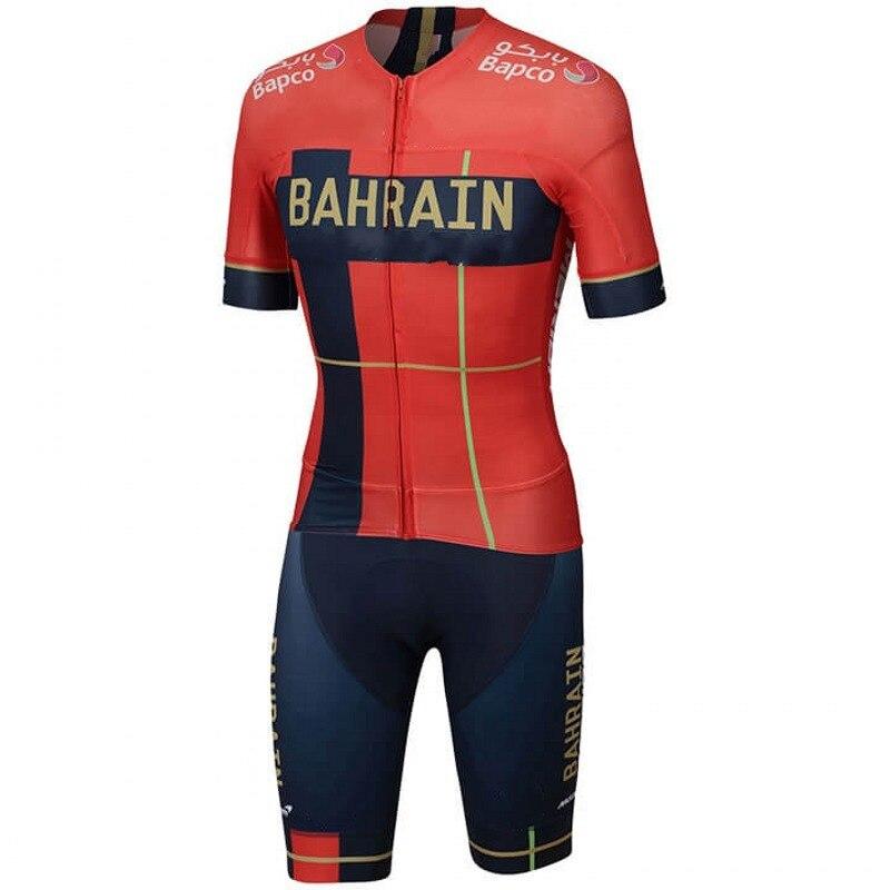 2019 pro équipe bahreïn une pièce maillot de cyclisme skinsuits vélo combinaisons vtt Ropa Ciclismo vélo speedsuit maillot GEL PAD