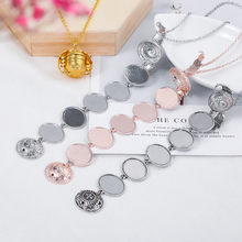 Photo Box Necklace Pendant Oval Foldable Multi Layer Necklace Can Hold 5 Photos Layer Necklace Can Hold 5 Photos Gift For Women(China)