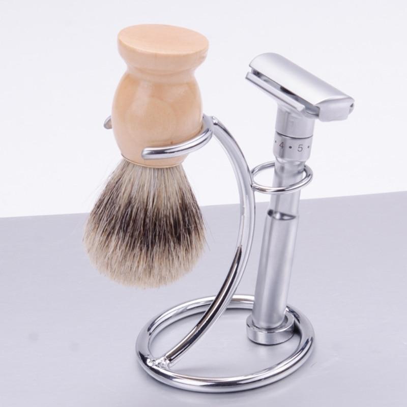 New 1pc Men Iron Alloy Razor Stand Shaving Brush Holder Stand Shaving Razor and Brush Holder 2018 Fashion maange brush stand brush holder