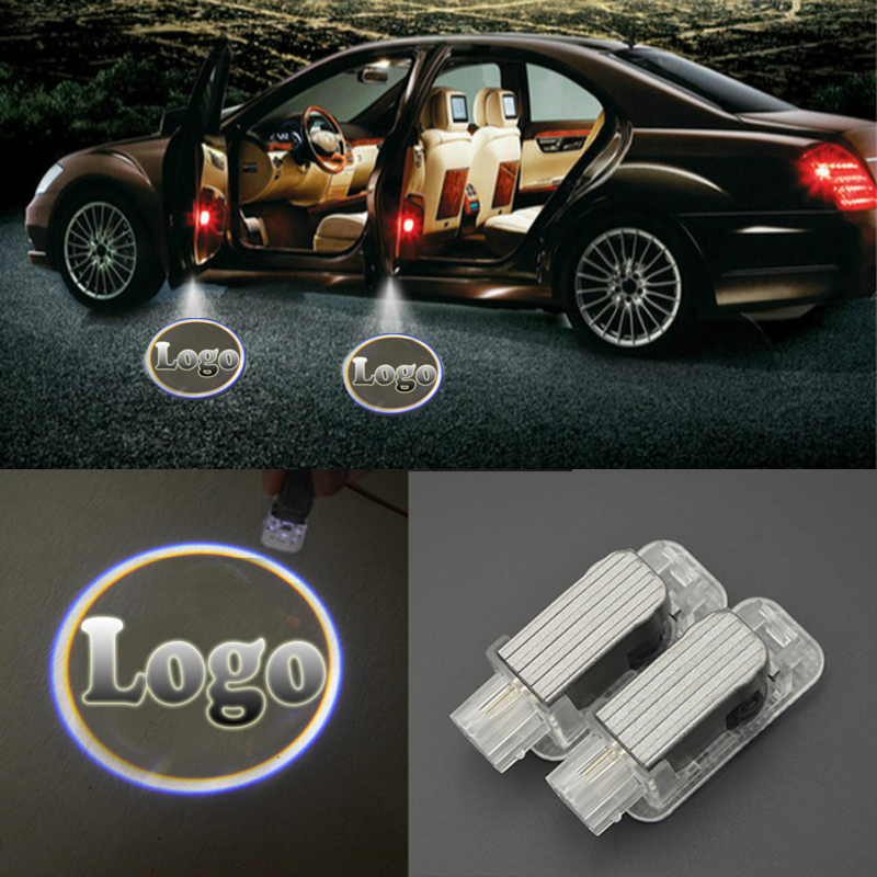 2Pcs 3D Laser Shadow Light LED Door Logo Welcome Light Laser Projector Ghost Shadow light for Mercedes-Benz BMW Toyota Audi 1 pair auto brand emblem logo led lamp laser shadow car door welcome step projector shadow ghost light for audi vw chevys honda page 1