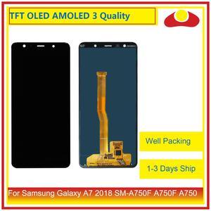 Image 1 - 10 ピース/ロットサムスンギャラクシー A7 2018 SM A750F A750F A750 液晶ディスプレイとタッチスクリーンデジタイザパネルモニターアセンブリ完全な