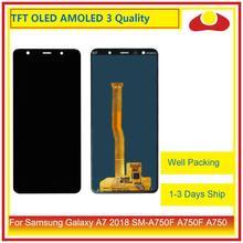 الأصلي لسامسونج غالاكسي A7 2018 SM A750F A750F A750 شاشة الكريستال السائل مع محول الأرقام بشاشة تعمل بلمس لوحة رصد الجمعية كاملة