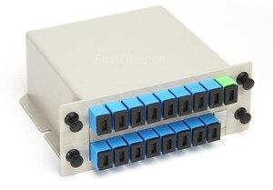 Image 2 - 1 x 16 SC/UPC Branching Fiber Optical Box Splitter Cassette Card Insertion Type ABS PLC Splitter box,FTTH 1X16 Planar waveguide