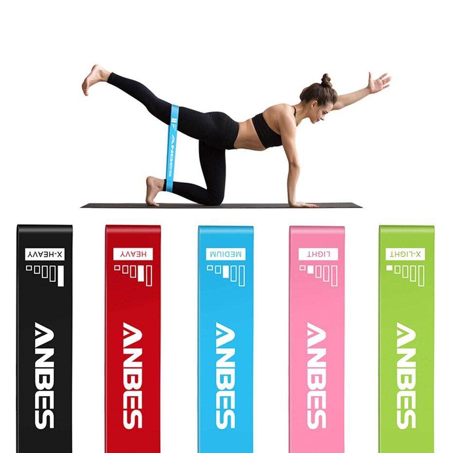 Lixada Juego de 5 bloques de yoga para estirar la banda de resistencia de la banda de entrenamiento