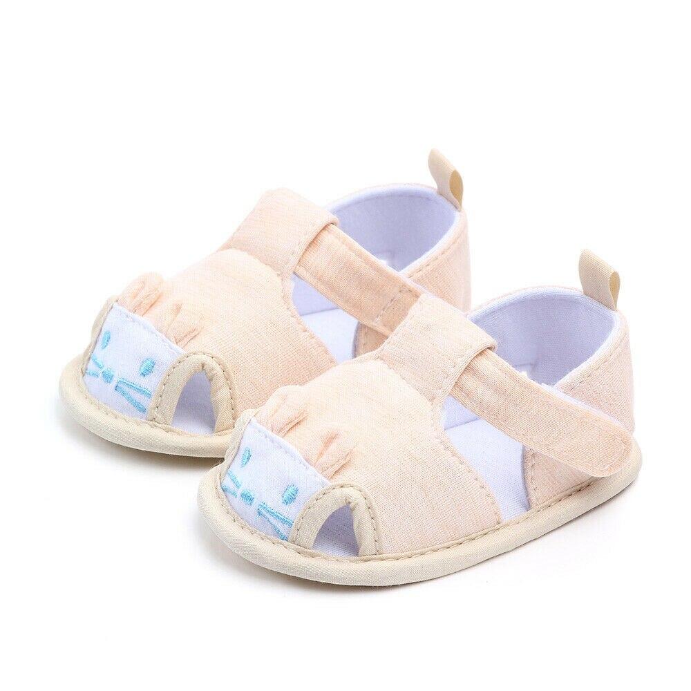 Baby Toddler Boy Girl Soft Summer Newborn Infant Anti-Slip Trainner Shoes Sandal