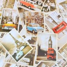 Знаменитые закладки Европейское здание винтажная стильная открытка