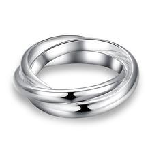 Camadas Círculo de Cor prata Anel de Dedo de Noivado Jóias Acessórios Mulheres