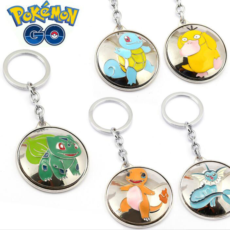 ORP Anime game theme products Pokemon Go Keychain logo Can be rotated key chain fine accessories wholesale