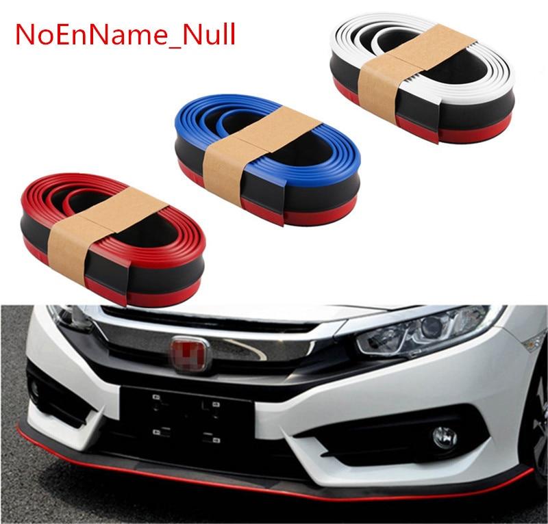 Red Rubber Car Front Bumper Lip Splitter Body Spoiler Valance Chin Protector 2.5 Car & Truck Exterior Parts Motors