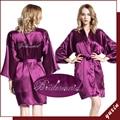 LP003 Da Noiva Do Casamento Da Dama de honra Floral Robe de Cetim Rayon Roupão Camisola Para As Mulheres Kimono Sleepwear Flor Plus Size