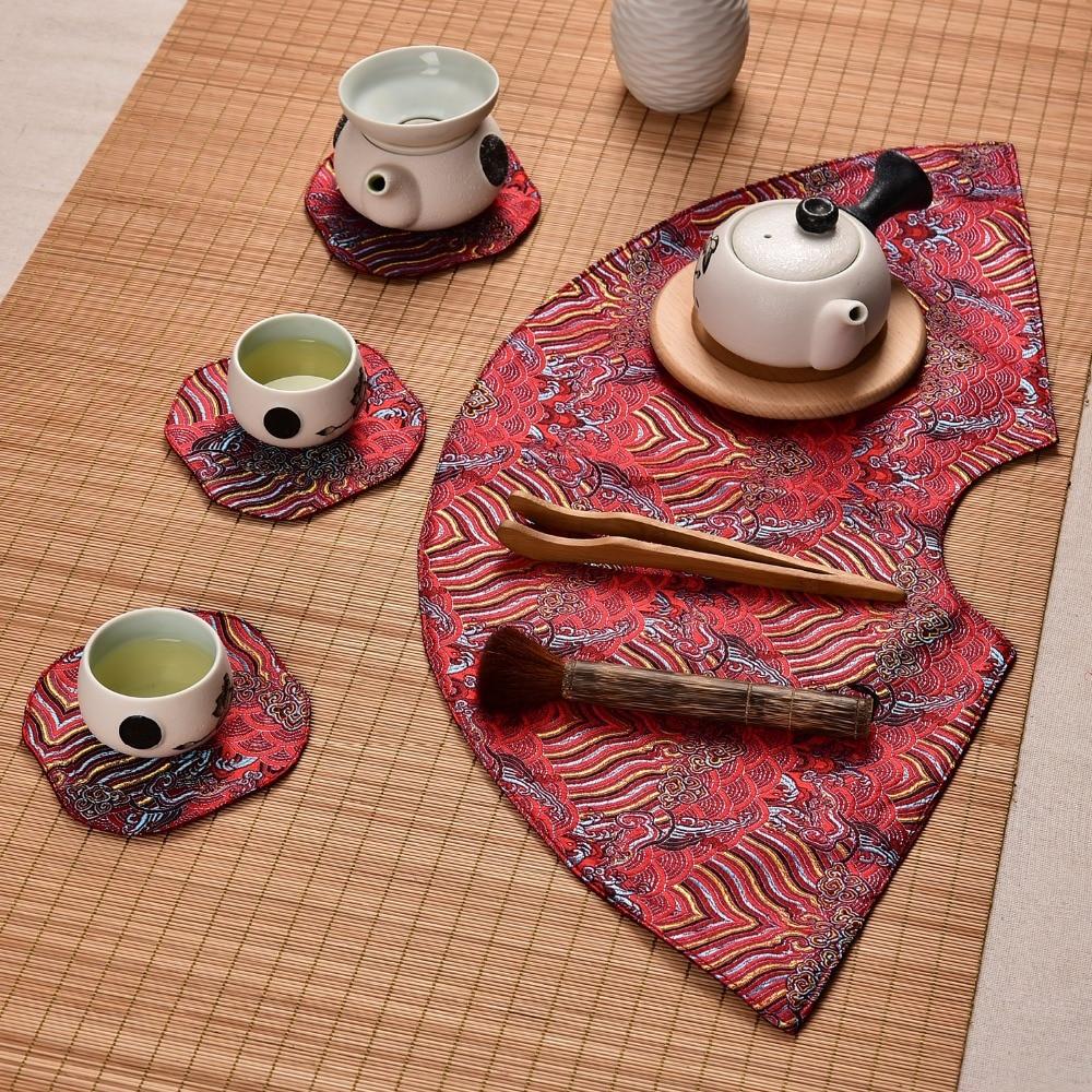 Aliexpress.com : Buy Fan shaped Elegant Coffee Table Cloth ...