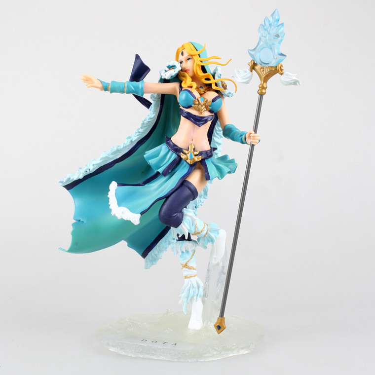 Stock Sale! PVC DOTA Crystal Maide/ Game Doll/ Action Figure/ Model Toy for Christmas Gift 22cm Free Shipping new game ashe action figure collectible model toy pvc 23cm game figures doll brinquedos juguetes hot sale free shipping