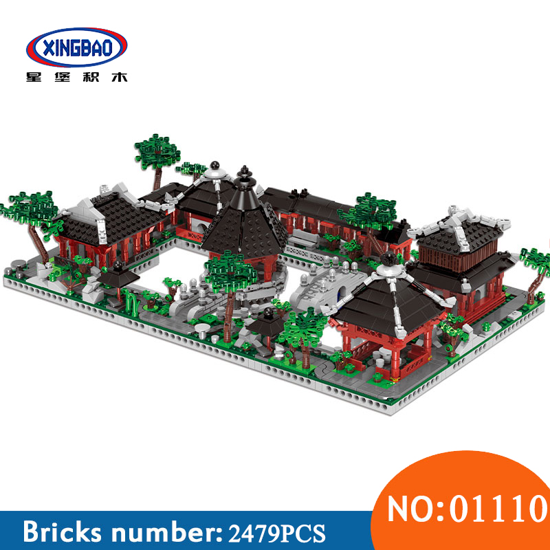 XingBao 01110 Chinese Suzhou GardenToys Building Series The 6 in 1 Model Set Building Blocks Bricks Toys For Children Kids Gifts kl069 single sale the x files agent vol 1 uma thurman the bride bricks building blocks figures for children gifts toys kl9011