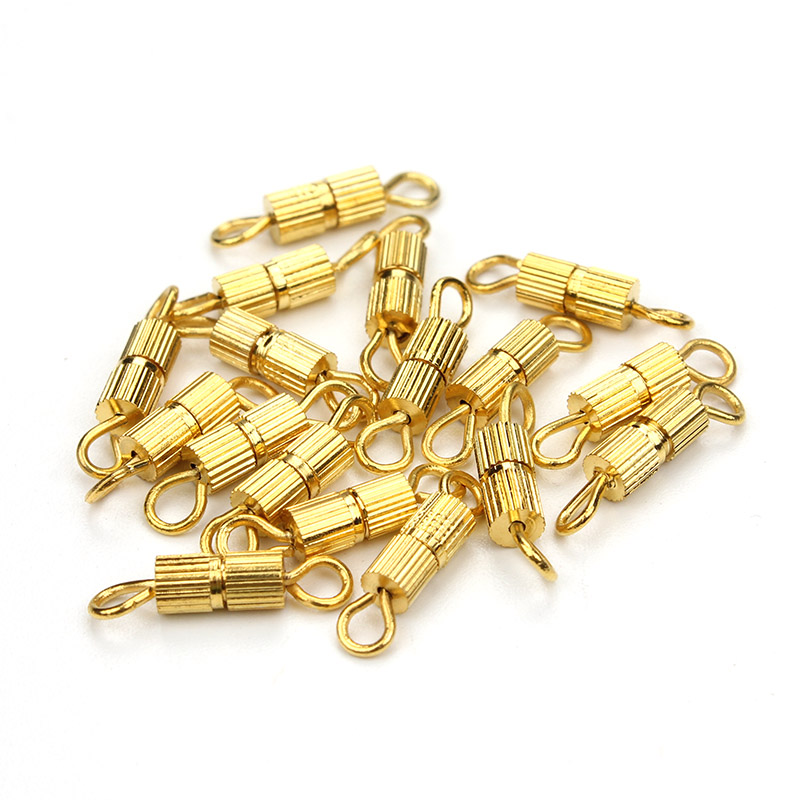 10pcs/lot  Fashion Gold Silver Rhodium Plated Screw Clasps Buckle DIY Jewelry Accessories  For Bracelet Necklace