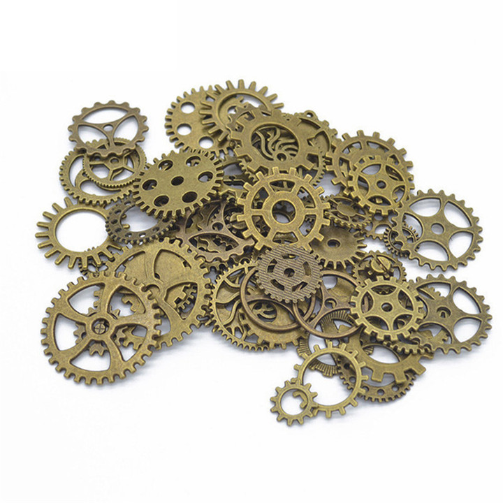 5 50glot Different Size Gears DIY Jewelry Accessories For Necklace Earring Pendant Bracelet Gold Silver Gear Diy Jewelry Making