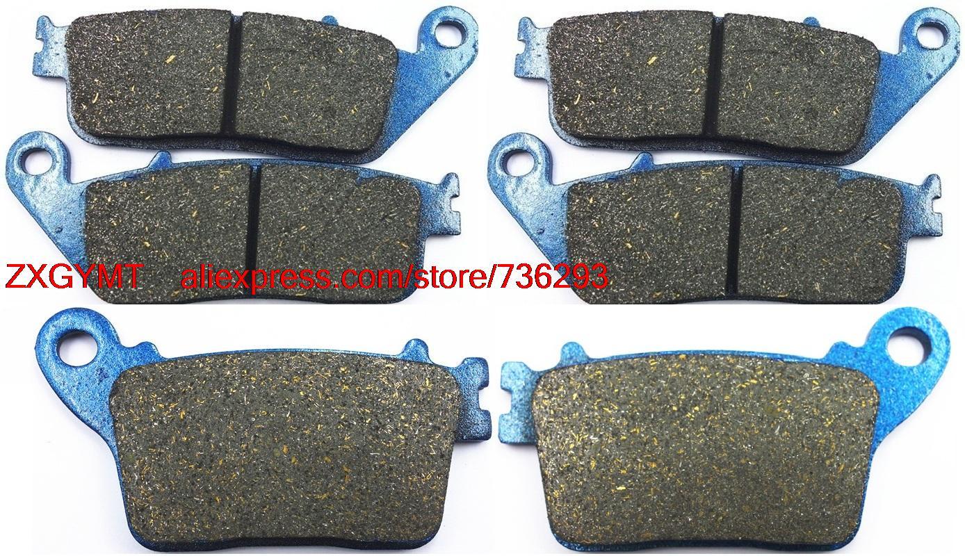 Motorcycle carbon brake pads set fit honda cb600 cb 600 hornet 2007 up china