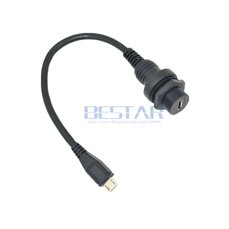 Computer & Office Micro Usb 2.0 Panel Mount Connector Ip67 Waterproof Cable 1m 3ft Micro-usb 5pin Male To Female Extension Cord Cables Water Proof