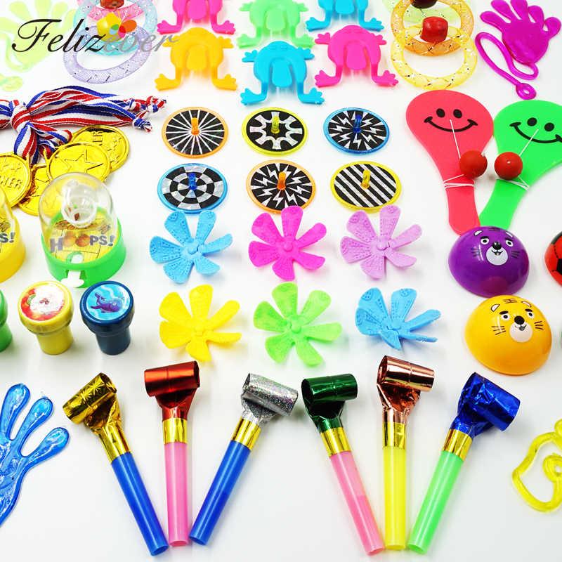 50 PCS Enchimento Pinata Brinquedos Prêmios Do Carnaval para Os Meninos e Meninas Brinquedos para Crianças festa de Aniversário Do Favor de Partido Caixa do Tesouro No Peito tratar de Presente