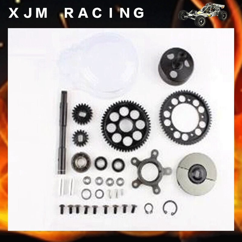 1/5 rc car racing parts,2 speed transmission set fit HPI Rovan Baja 5B KM truck free shipping baja 5b 2 speed transmission gears are 57t 51t 23t 17t of 1 5 rovan baja 5b km hpi 85179