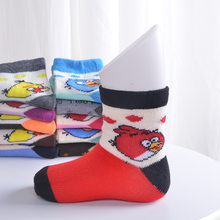 Spring and Autumn children 1-3 years old baby cartoon warm socks new antibacterial cotton socks absorb sweat(China)