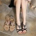2016 Новый Национальный Женщины Сандалии Богемия Алмаз Обувь Плоские Туфли Пляжные Сандалии Sandalia Sapato Feminino Mulher