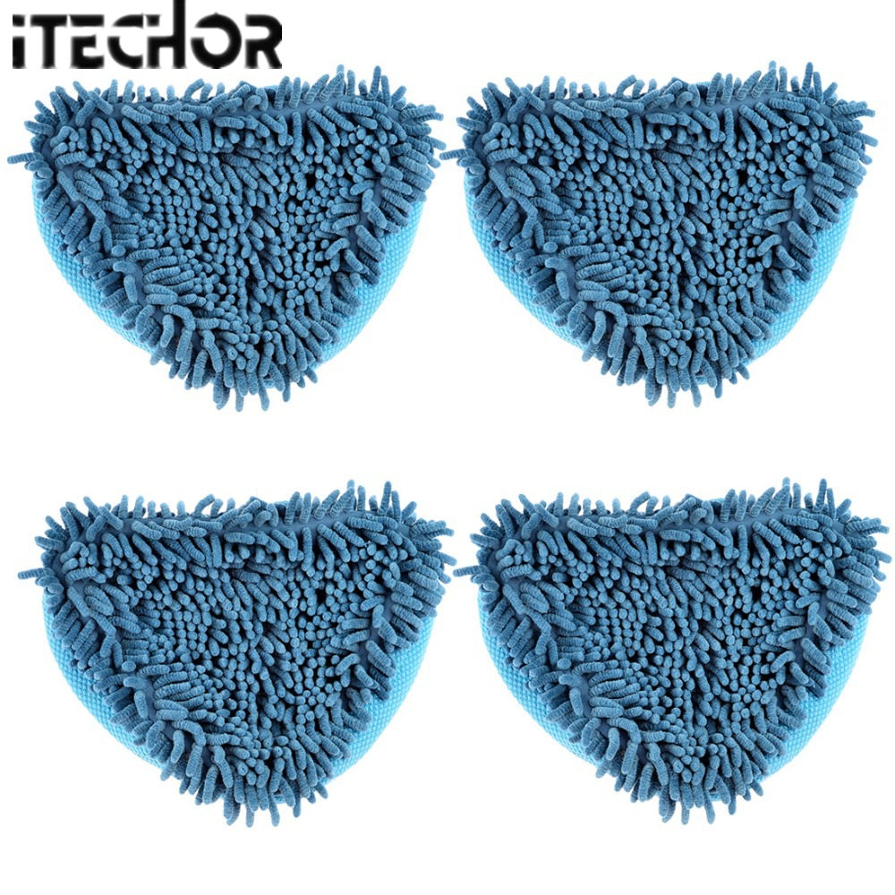 iTECHOR 4pcs Blue Big size microfiber cloth cleaning Floor Cover H2O Mop X5/Vax X2/<font><b>Bionaire</b></font> Steam Mop Household Cleaning Tools