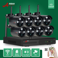 ANRAN P2P HDMI 8CH 1080P WIFI NVR 2MP Outdoor 3 Array IR Waterproof Wireless IP Camera
