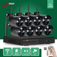 ANRAN P2P HDMI 8CH 1080P WIFI NVR 2MP Outdoor 3 Array IR Waterproof Wireless IP Camera