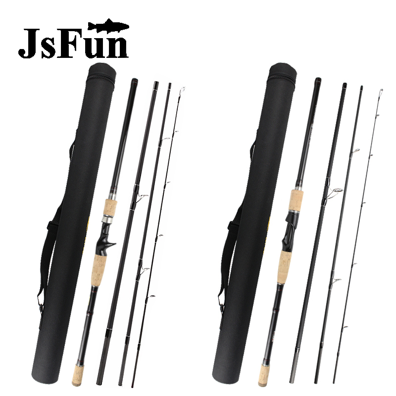 Lure Fishing Rod 2.1M 2.4M 2.7M 3.0M 4 Section M Power Carbon Fiber Spinning/Casting Travel Rod 10-30g Fishing Tackle FG176 цена