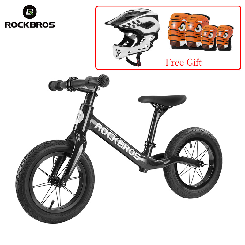 ROCKBROS Cycling Bike Bicycle Carbon Fiber Slide Bike Child Balance Bike Light Corrosion Resistant Bike For 2-6 Years Old Child 12 inch balance bike ultralight pedal less balance bike steel kids balance bicycle for 2 6 years old children complete bike