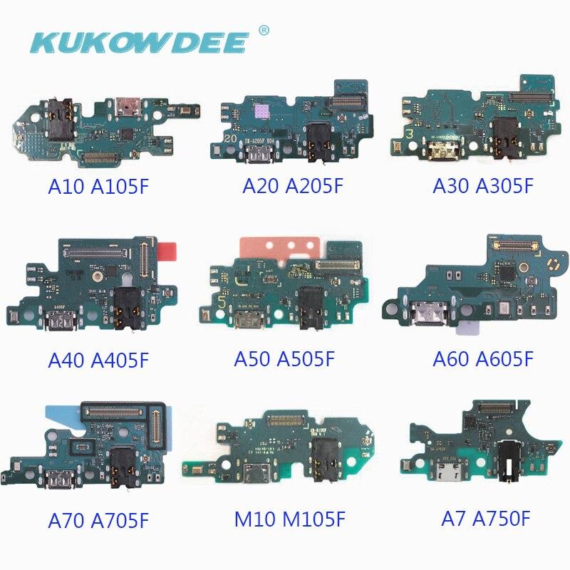 2pcs USB Charging Port Connector Charger Flex Cable For Samsung Galaxy A70 A60 A50 A40 A30 A20 A10 M10 A750F