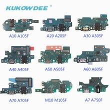 2pcs USB Charging Port Connector Charger Flex Cable For Samsung Galaxy A70 A60 A50 A40 A30 A20 A10 M10 A750F стоимость