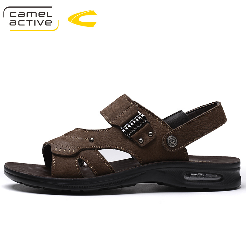 Sandálias Praia Da Respirável Moda Luxo 5681 Camel Sapatos De Masculino Marrom Verão Flats Clássicos Couro cáqui Homens Active wgx7qxp08