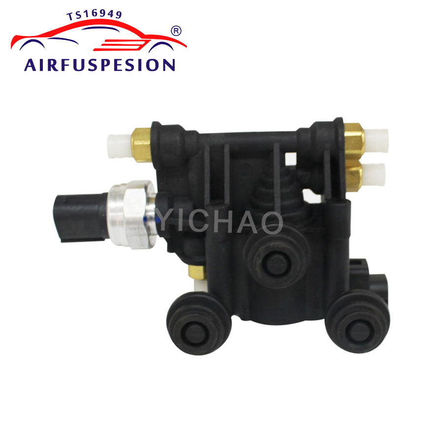 US $79 0 21% OFF|Air Suspension Compressor Pump Valve Block For Land Rover  LR3 LR4 Discovery 3 Range Rover Sport RVH000046 RVH500070 2005 2013-in