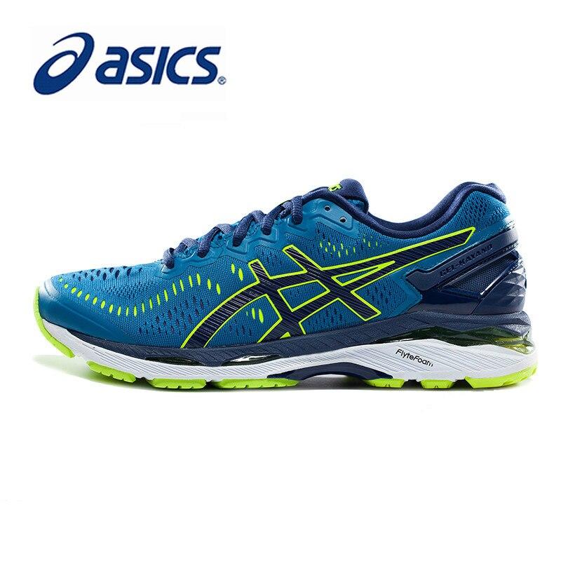 Оригинальные аутентичные ASICS GEL KAYANO 23 Стабильный свет кроссовки половина марафон Мужская обувь нескользящие дышащие низкие T646N