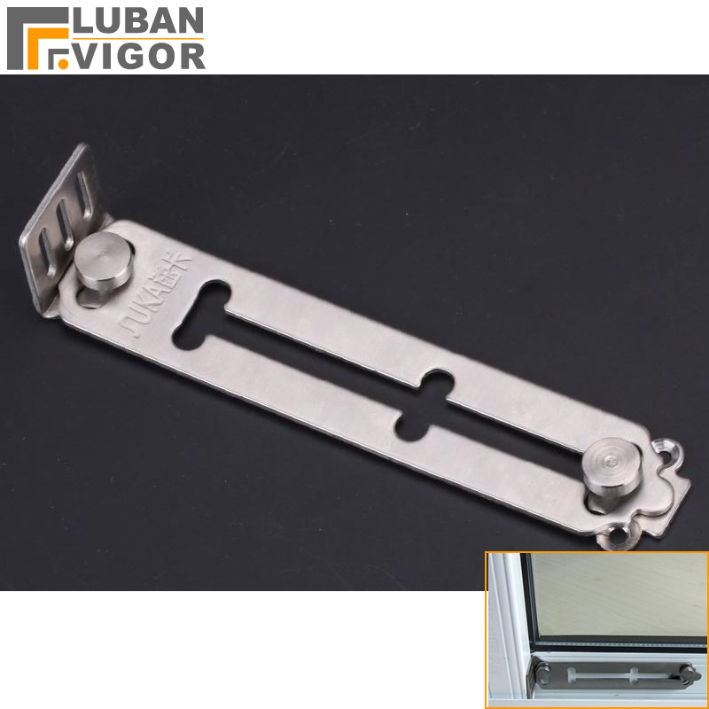 Mother & Kids Clever Stainless Steel Window Restrictor Security Lock Prevent Children From Falling Anti-theft Home Hardware