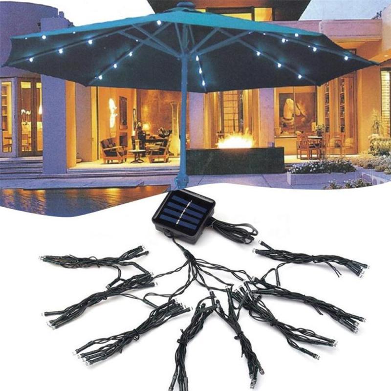 Solar Lights Christmas Tree Shop: 72 LED String Solar Powered Umbrella String Light Low