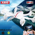 MJX X800 2.4G 4CH RTF Quadcopter Drones UAV RC helicóptero 6-Axis C4005 HD cámara WIFI FPV video VS X5SW X400 H107D
