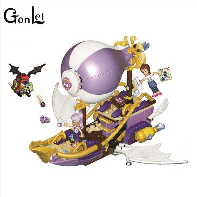 10696 Elfes de Aira Dirigeable et l'amulette Chase Building Blocks enfants Briques jouets De Noël Cadeau Compatible Avec 41184 pour filles