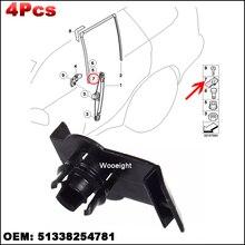 4 個 51338254781 フロント左/右窓レギュレータ保持のために適合bmw E53 X5 2000 2006 ブラケットガイドクリップ