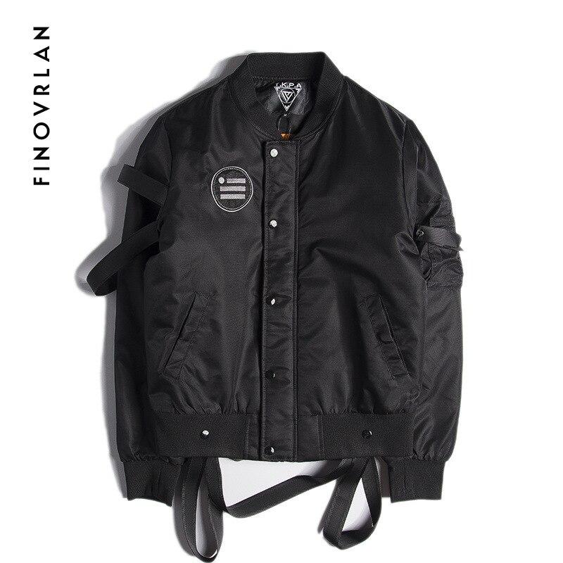 2019 nouvelle haute qualité Ma1 ruban noir veste militaire Ma-1 moto aviateur pilote Air hip hop hommes bomber veste Street wear