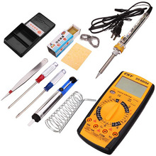 10in1 Welding Tool Kit 40W Internal Heating Electric Soldering Iron + Digital Multimeter + 8 pcs Auxiliary Soldering Tools